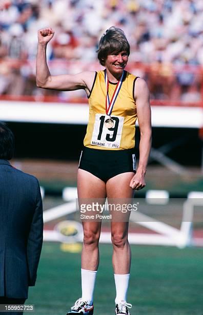 Australian athlete Raelene Boyle wins a medal at the Commonwealth Games in Brisbane Australia October 1982