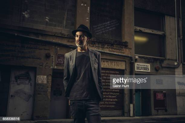 Image was altered with digital filters Australian author and poet Brentley Frazer poses during a portrait session on March 26 2017 in Brisbane...