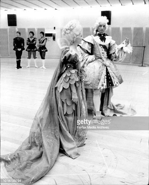 Australian Ballet Corehearsal at the Opera HouseCostumes of the Queen Mary Duchesne and the King Frederic WernerThe Queen and the King in their rich...
