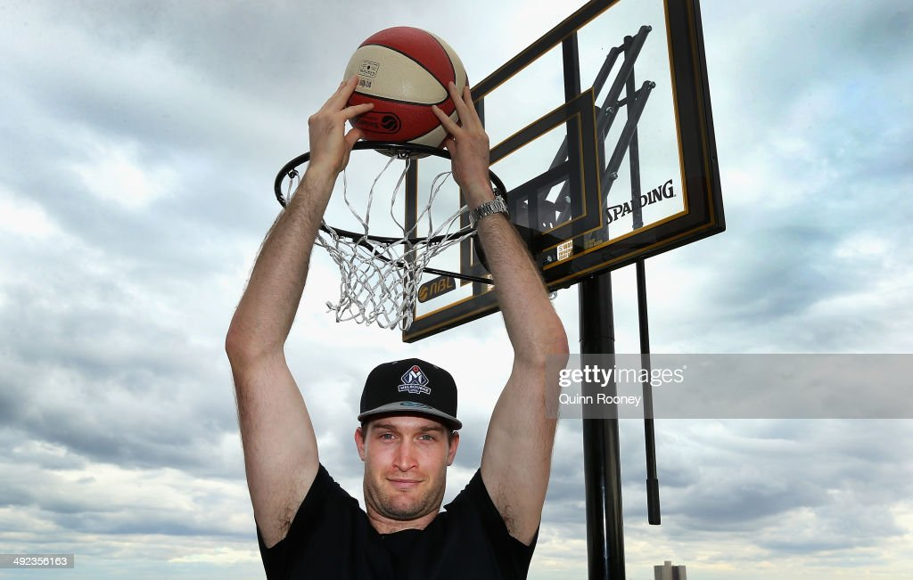 Australian basketballer Mark Worthington poses during the Melbourne United NBL press conference at Melbourne United Head Office on May 20, 2014 in Melbourne, Australia.