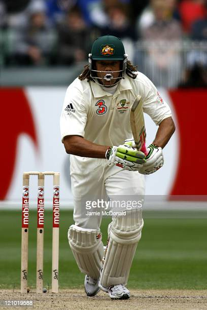 Australian batsman Andrew Symonds in Day Two of the Fourth Ashes Test at the Melbourne Cricket Ground Australia December 27 2006 Australia leads the...