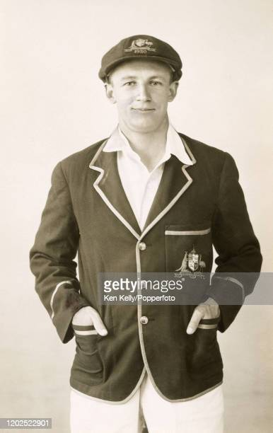 Australian batsman Don Bradman, aged 21, in 1930. On his first visit to England, Bradman played all five Tests on the tour, scoring 974 runs with a...