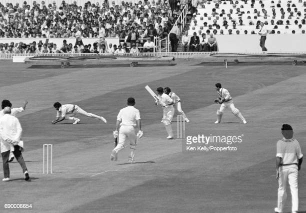 Australian batsman Doug Walters is caught by Sarfraz Nawaz of Pakistan off the bowling of Naseer Malik for 2 runs during the Prudential World Cup...