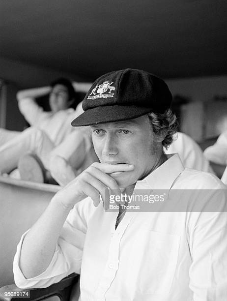 Australian batsman Kim Hughes in the dressingroom at the County Ground in Northampton during the touring match between Northamptonshire and Australia...