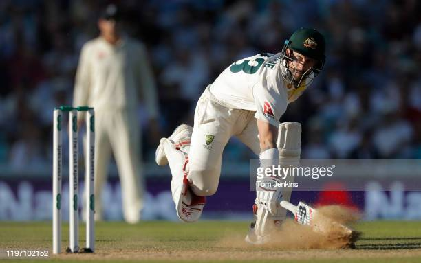 Australian batsman Matthew Wade scampers a quick single as he nears his century during day four of the England v Australia 5th Ashes test match at...