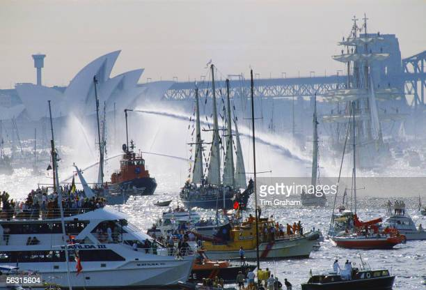 Australian Bicentennial Day celebrations in Sydney Harbour Australia