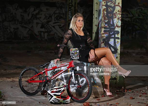 Australian BMX rider Lauren Reynolds poses during a portrait session on May 16, 2014 in Perth, Australia.