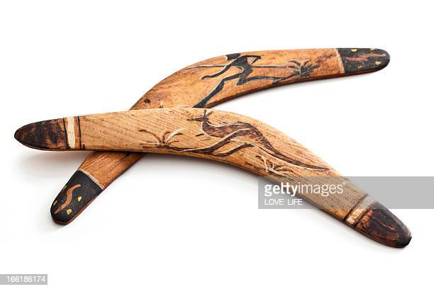 australian boomerangs - boomerang stock pictures, royalty-free photos & images