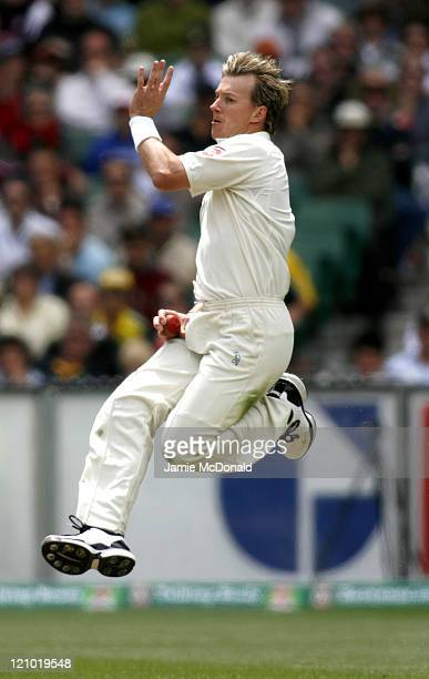 Australian bowler Brett Lee in Day Three of the Fourth Ashes Test at the Melbourne Cricket Ground Australia December 28 2006 Australia leads the best...
