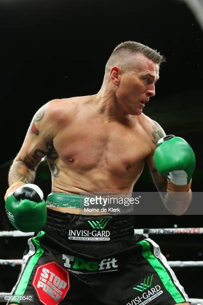 Australian boxer Danny Green fight during his cruiserweight bout with Anthony Mundine at Adelaide Oval on February 3 2017 in Adelaide Australia