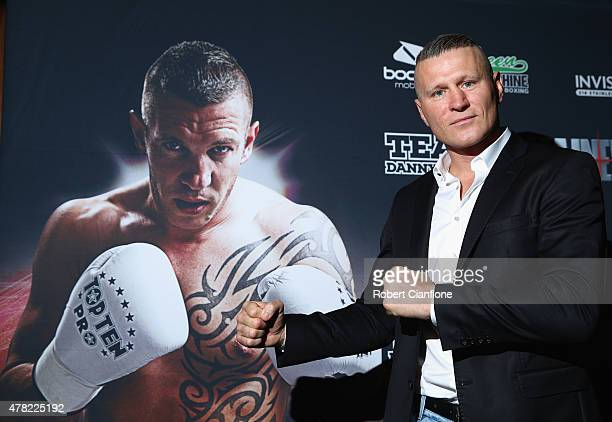 Australian boxer Danny Green poses for the media during a press conference to announce he will fight Slovakian Tamas Kovacs at Crown Entertainment...