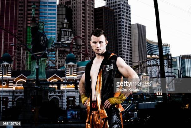 Australian boxer Jeff Horn poses during a portrait session on June 2 2018 in Las Vegas Nevada Jeff Horn will defend his welterweight world title...