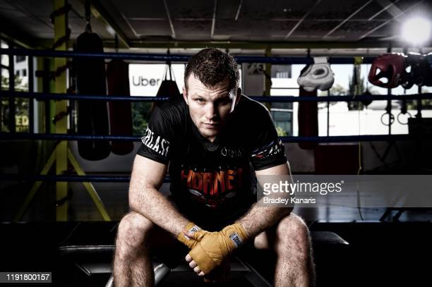 Australian boxer Jeff Horn poses for a photo at Dundee's Boxing and Fitness Gym on December 04 2019 in Brisbane Australia