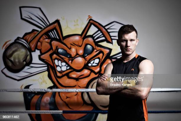 Australian boxer Jeff Horn poses for a portrait session at the Stretton Boxing Club on May 21 2018 in Brisbane Australia Horn defends his WBO...