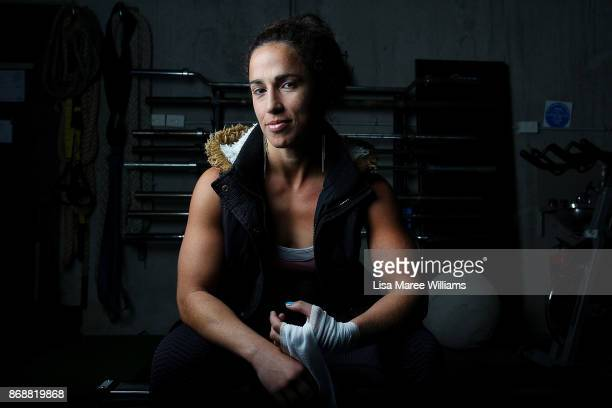 Australian boxing champion Bianca Elmir poses at her training gym MMA Central Coast Team Business on August 10 2017 in Gosford AustraliaThe...