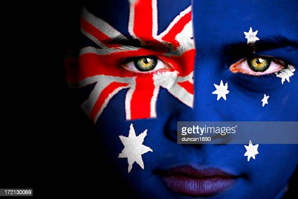 australian boy - australian flag stock pictures, royalty-free photos & images