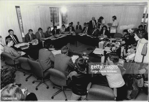 Australian Broadcasting Tribunal at North Sydney media takeover case todayAust Broadcasting Tribunal Media takeover case January 22 1987