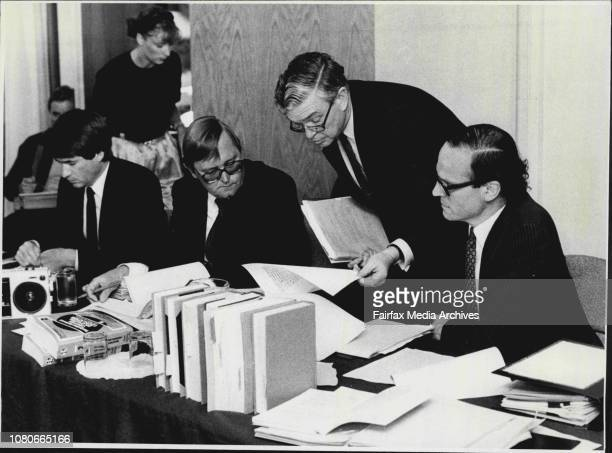 Australian Broadcasting Tribunal at North Sydney Media takeover case today News Ltd Lawyers January 22 1987