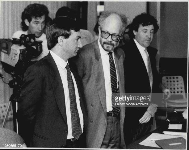 Australian Broadcasting Tribunal at North Sydney Media takeover case today Bell group reps January 22 1987