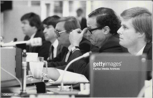 Australian Broadcasting Tribunal hearing at 4th floor 65 Berry St Nth SydneyMr Hayden of News Ltd Mr Heally QC of News Limited February 02 1987