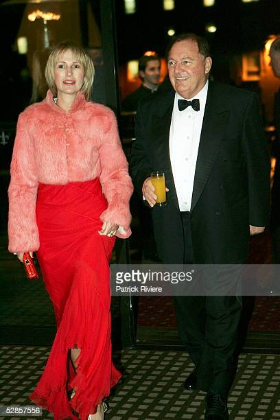 Australian Businessman Alan Bond and his wife Diana arrive at the fundraising charity event 'A Night of Pearl and Plonk at the Doltone House on May...