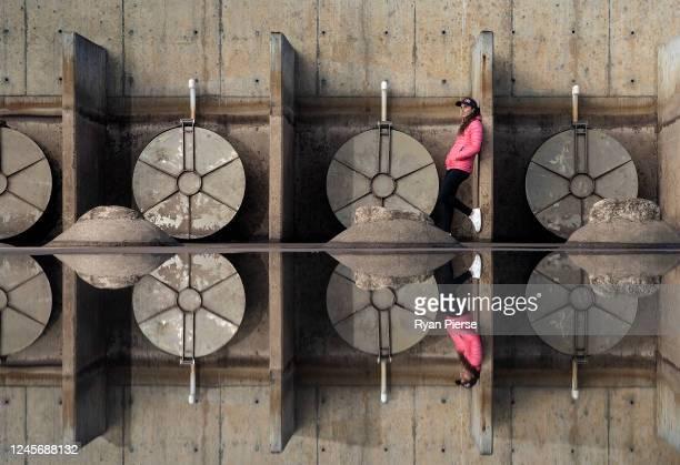 Australian Canoeist Jess Fox poses at Penrith Whitewater Stadium on June 05, 2020 in Sydney, Australia.