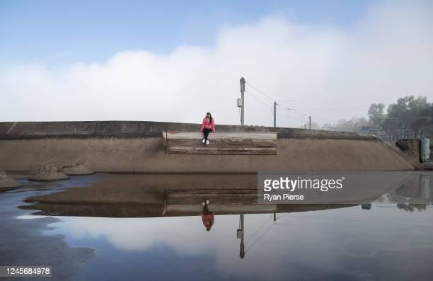 Australian Canoeist Jess Fox trains at Penrith Whitewater Stadium on June 05, 2020 in Sydney, Australia.