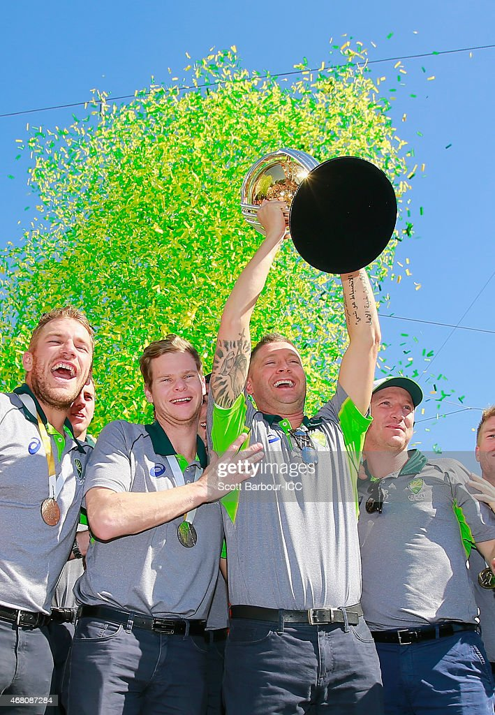 Australia Celebrate Winning 2015 ICC Cricket World Cup