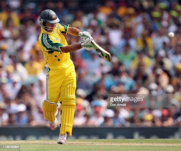 Australian captain Ricky Ponting plays an elegant pull shot off the bowling of Andrew Hall which finds its way to the mid wicket boundary at the...