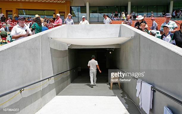 Australian captain Ricky Ponting walks back to the dressing room after Australia lost the match during day five of the Second Ashes Test match...