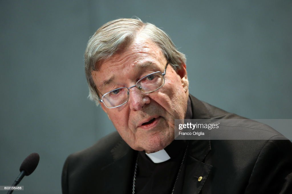 Cardinal George Pell Holds A Press Conference : News Photo