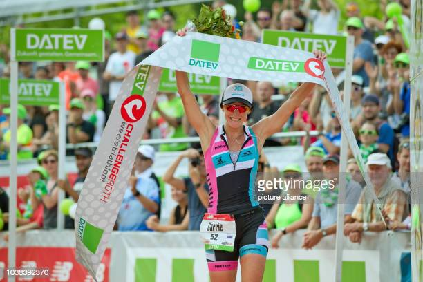 Australian Carrie Lester comes in second in the Datev Challenge Roth in Roth Germany 17 July 2016 In the 15th Roth race participants had to complete...