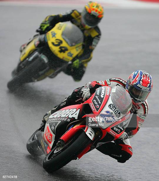 Australian Casey Stoner of Carrera Sunglasses LCR competes at 250cc event for the Shanghai MotoGP at Shanghai International Circuit on May 1 2005 in...