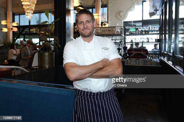 Australian celebrity chef Curtis Stone attends the ribboncutting ceremony for his new restaurant Gwen hosted by The Hollywood Chamber Of Commerce and...