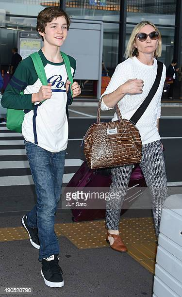 Australian child actor Levi Miller is seen upon arrival at Narita International Airport on September 29 2015 in Narita Japan