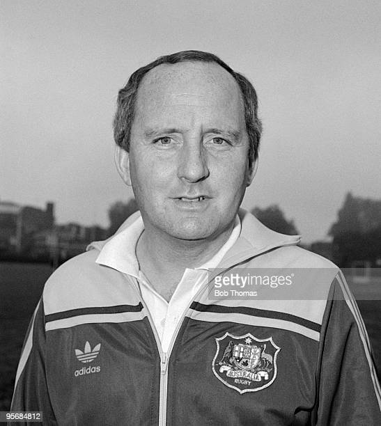 Australian coach Alan Jones during an Australian rugby union training session in London during October 1984