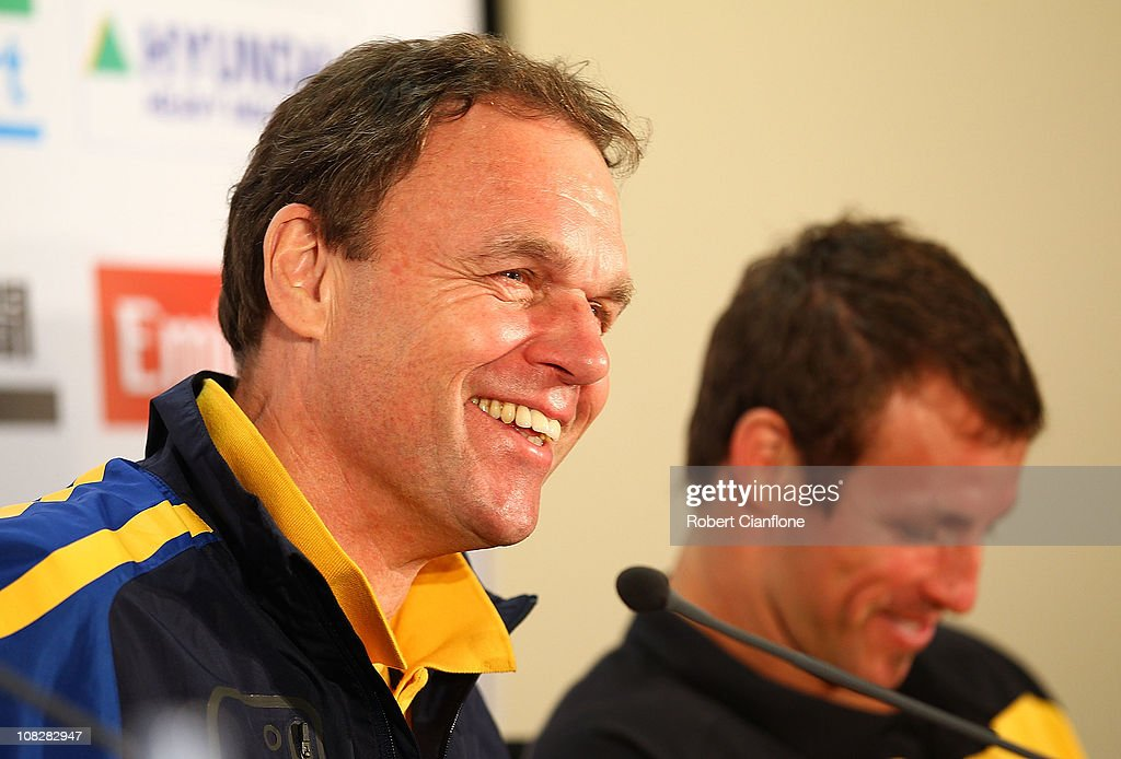 Socceroos Media Conference : News Photo