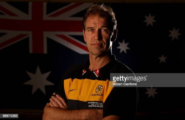 Australian coach Pim Verbeek poses for a portrait during an Australian Socceroos portrait session at Park Hyatt Hotel on May 19 2010 in Melbourne...