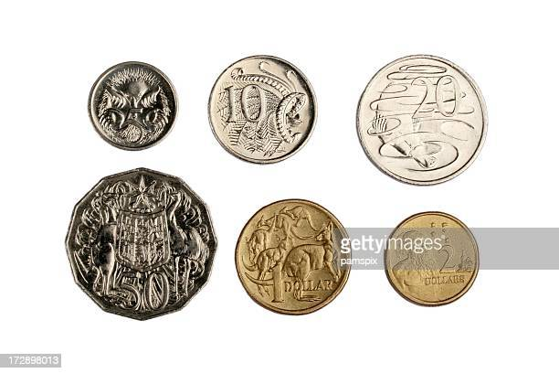 australian coins - australian culture stock pictures, royalty-free photos & images