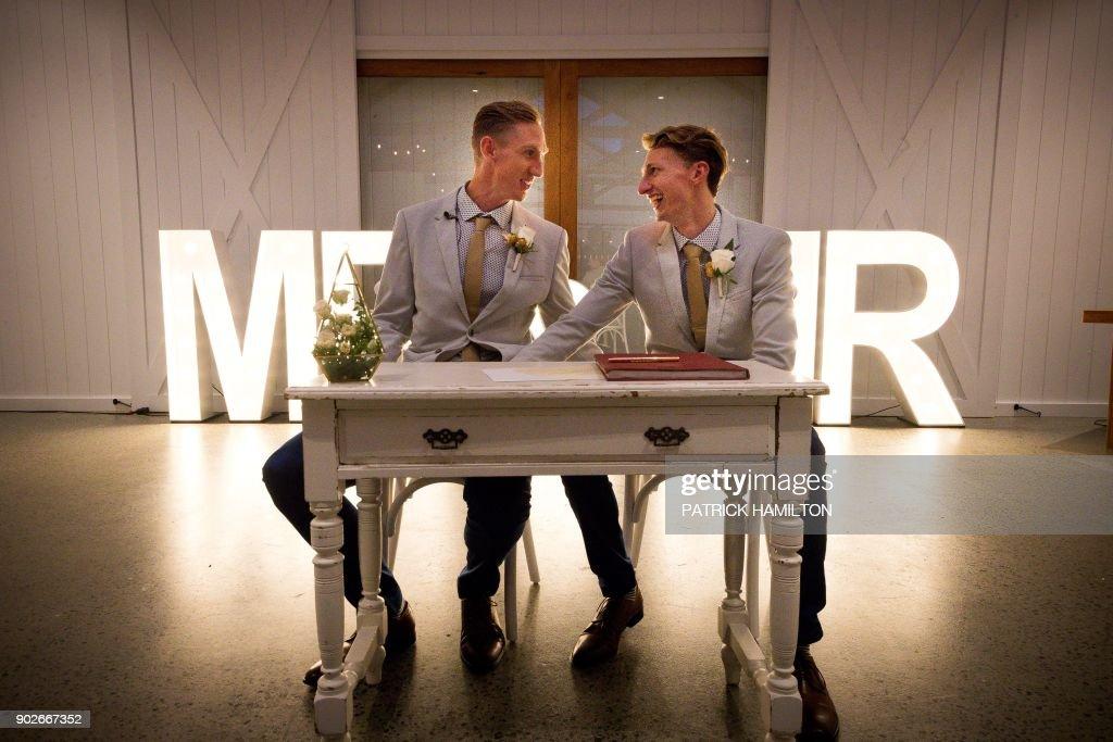 AUSTRALIA-GAY-POLITICS-MARRIAGE : News Photo