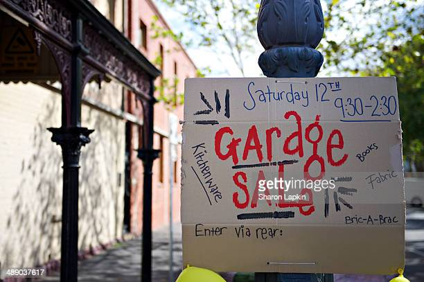 australian community life - garage sale stock pictures, royalty-free photos & images