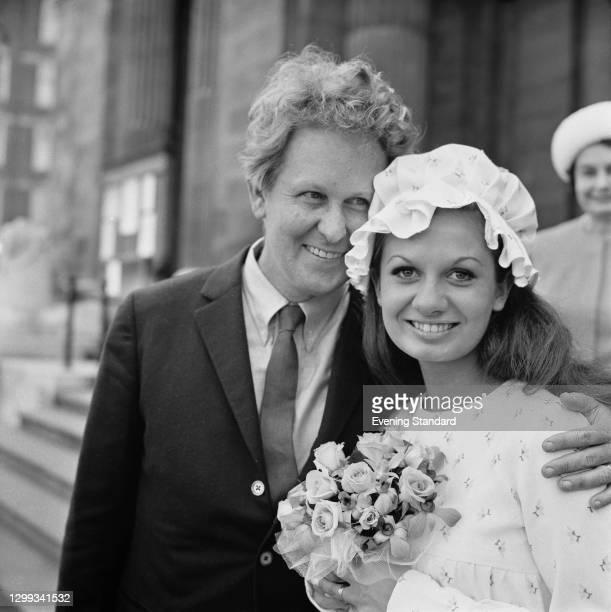 Australian composer Ron Grainer marries actress Jennifer Dodd, UK, 19th August 1966.
