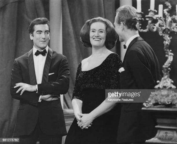 Australian conductor and pianist Richard Bonynge with his wife Australian opera singer Joan Sutherland 1962