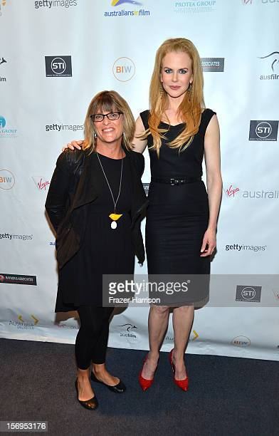"""Australian Consulate-General Karen Lanyon and actress Nicole Kidman attend Australians In Film Screening of """"The Paperboy"""" at Harmony Gold Theatre on..."""