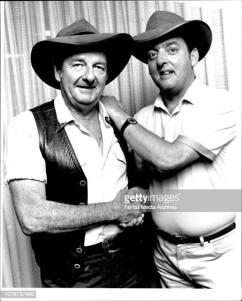 Australian Country amp Western Star Slim Dusty met one of his greatest fans today and presented Mr Barrie Albone of Leicester England with a...