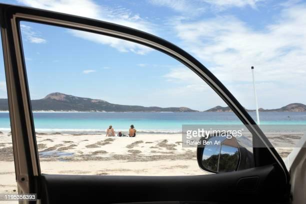 australian couple in lucky bay in western australia - rafael ben ari ストックフォトと画像