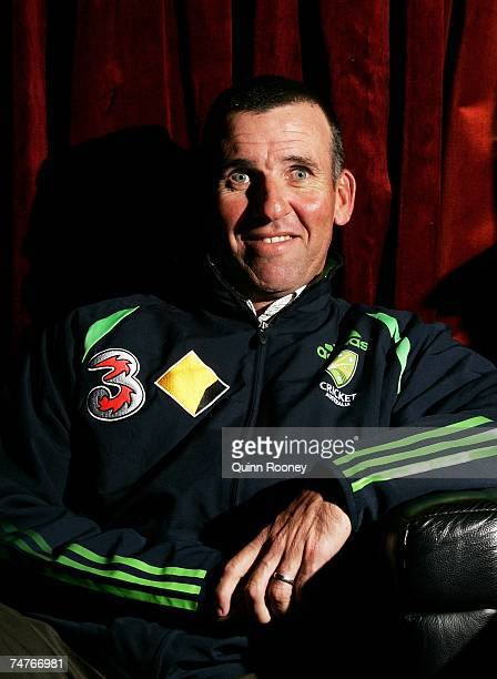 Australian cricket coach Tim Neilsen poses for a photo during the Cricket Australia 200708 ticket launch at the Transport Hotel June 19 2007...