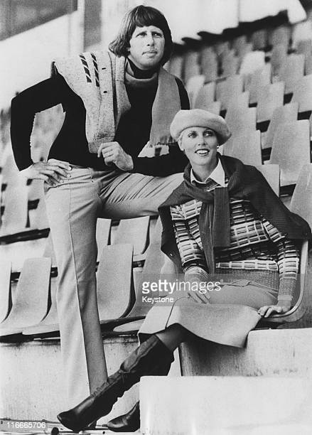 Australian cricket fast bowler Jeff Thomson and his wife Cheryl modelling outfits for an Australian chainstore Australia 1st March 1978