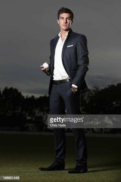 Australian Cricket player Pat Cummins poses during a portrait session at Allan Border Oval on May 16 2013 in Brisbane Australia