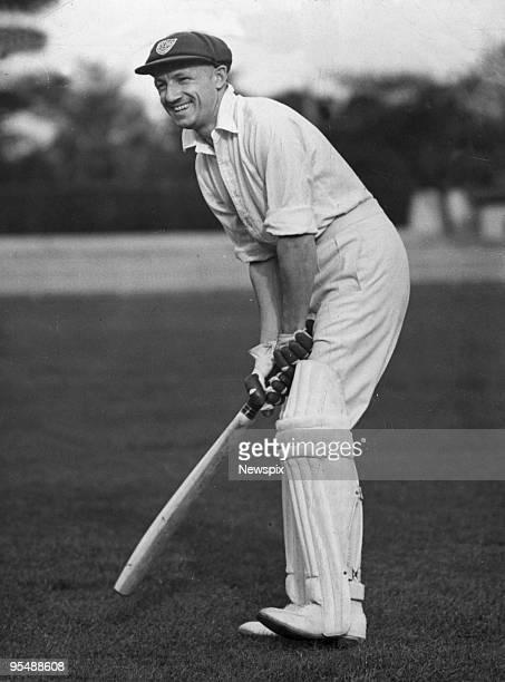 Australian Cricket player Sir Donald Bradman batting on June 20, 1938 in Australia.